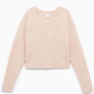 Aritzia Wilfred Marseille Fuzzy Alpaca Sweater